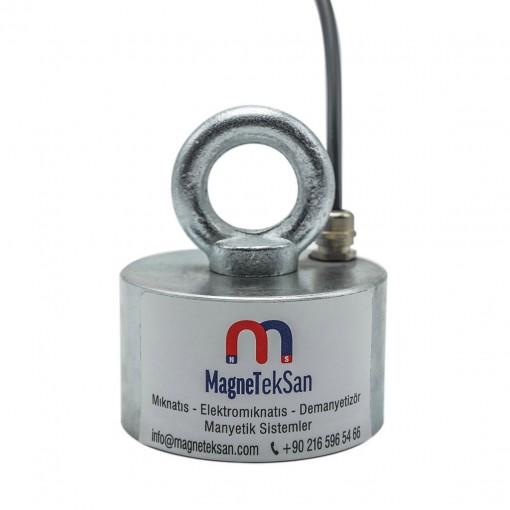 100x60 mm Elektromıknatıs - Yüksek Güçlü, Su Geçirmez