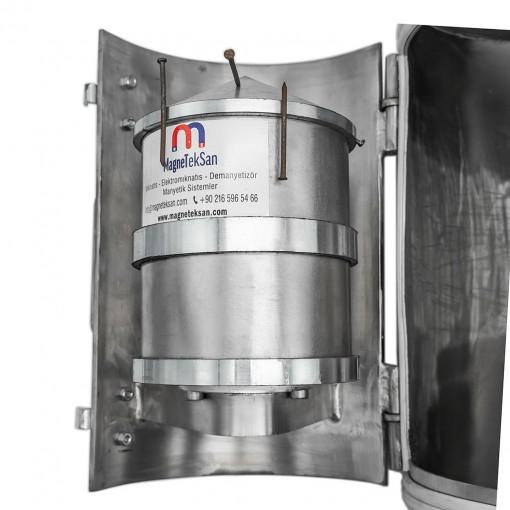 Neodyum Füze Mıknatıs - Manyetik Seperatör - 12000 Gauss - DN250 Giriş Çıkışlı